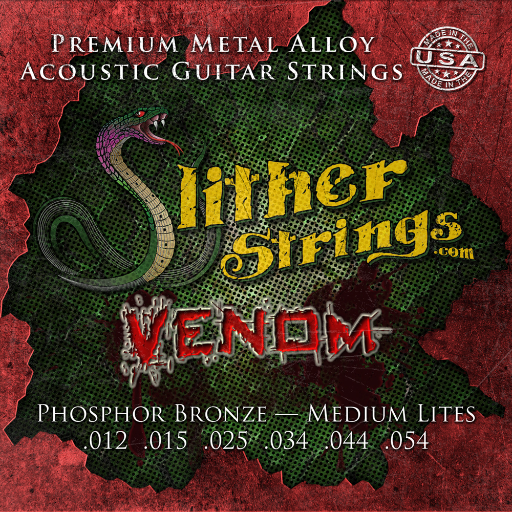 Slither Strings - Venom (Medium Lites) Acoustic Guitar Strings